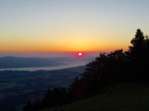 Sonnenaufgang über dem Salzburger Land