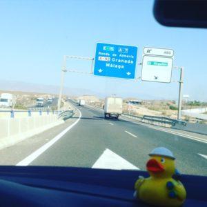 Mitbdem Auto nach Málaga
