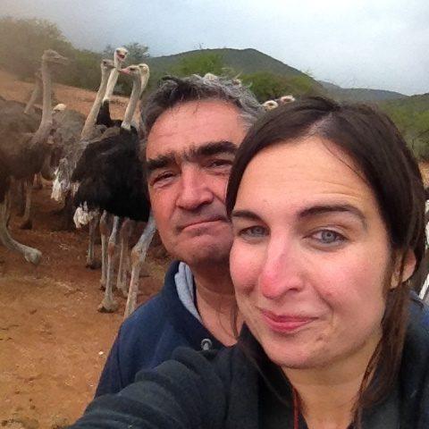 Dario & Kathi bei den Straußen