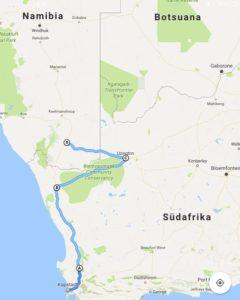 Südafrika bis Namibia