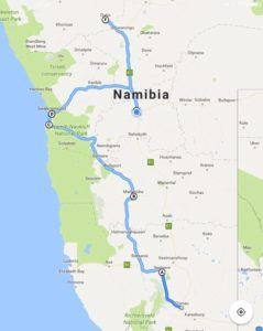 Namibia von Süd nach West