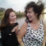 Windig auf so einem Motorboot