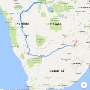 Vom Camp Ndurukoro nach Johannesburg