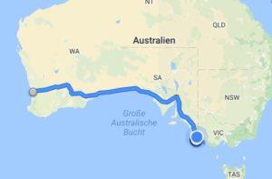 Die ersten Kilometer in Australien