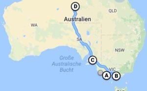 Südküste bis Alice Springs