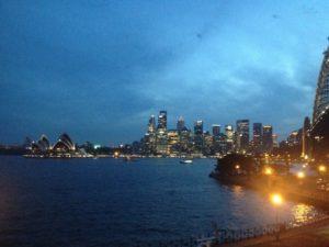 Sydney in Dämmerungsstimmung