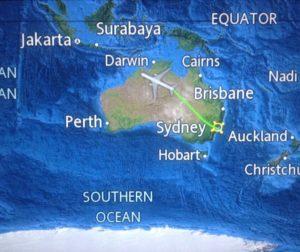 Einmal über Australien drüber