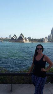 Sydney Opernhaus und Skyline