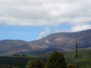 Aktiver Vulkan in Neuseeland