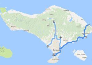 Unsere Wege auf Bali
