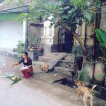 Betende Balinesin