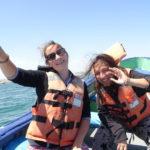Katja und Kathi aufm Boots-Ausflug