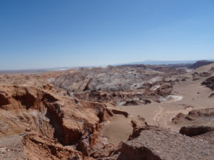 Salzlandschaft im Atacama Desert