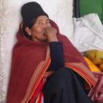 Bolivianerin, gezeichnet vom Leben