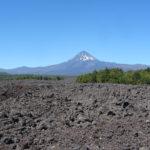 Vulkan und Vulkansgestein bei Vilarrica, Chile