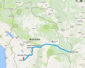 Mit Sams durch Bolivien, Südamerika