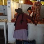 Fleischstand im Zentralmarkt in Sucre
