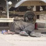Reperaturarbeiten auf der Straße in Bolivien