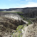 Ausgetrockneter Fluss in Bolivien