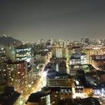 Ausblick meiner Wohnung bei Nacht