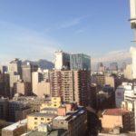 Santiago bei Tag, smogig