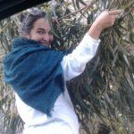 Kathi macht den Weg frei (Baum zu groß für's Auto)