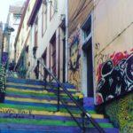 Typische Treppe in Valparaiso