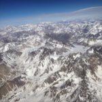 Die Anden-Gebirgskette von oben